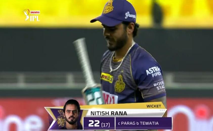 Rana dismissed for 22 runs