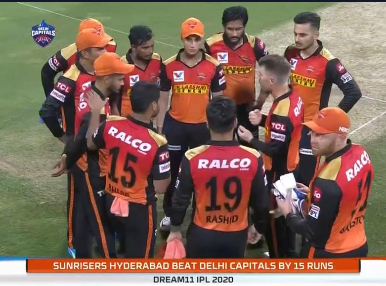IPL 2020 DC vs SRH Sunrisers Hyderabad won by 15 runs