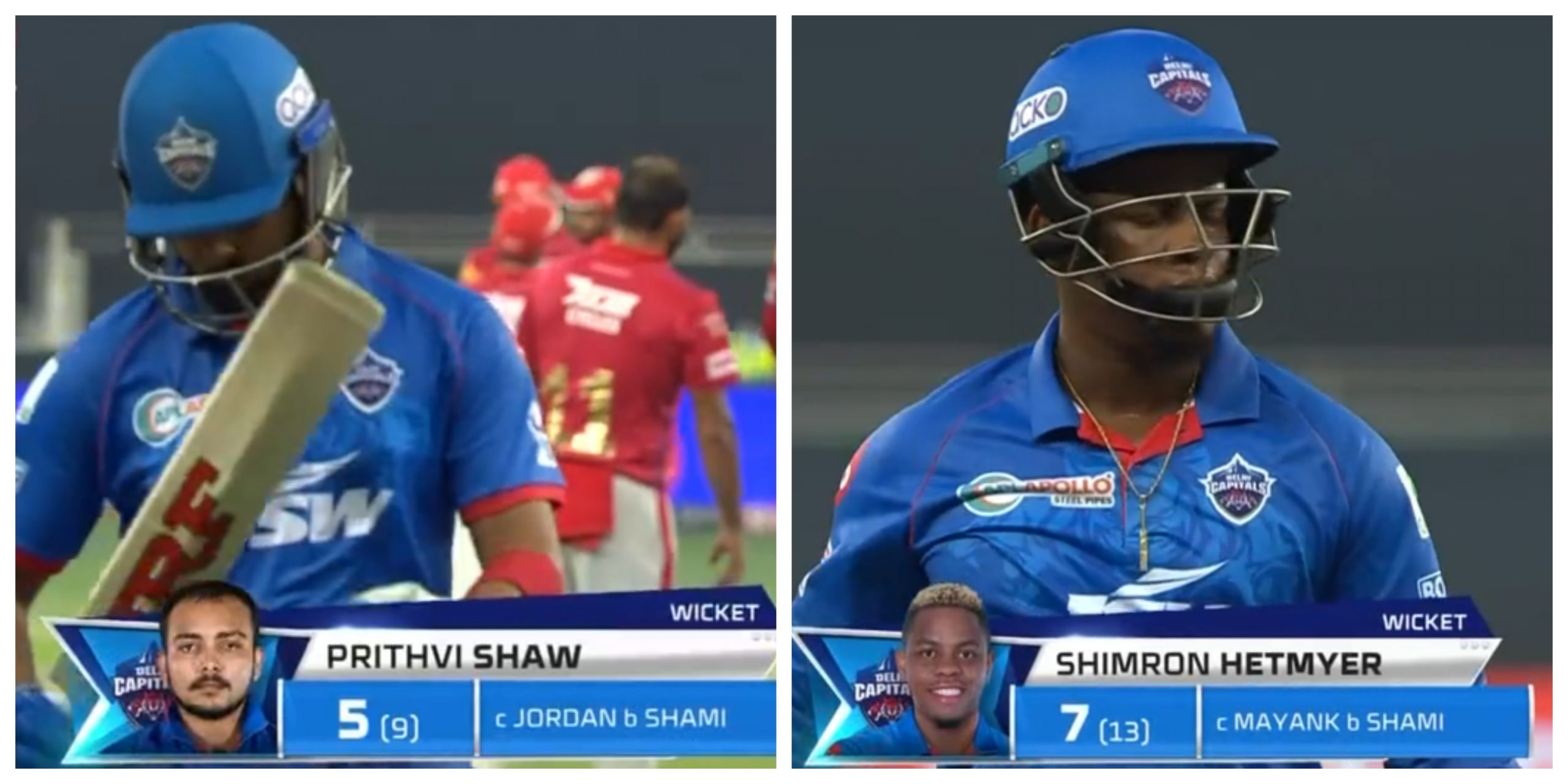 Shaw Hetmyer wicket