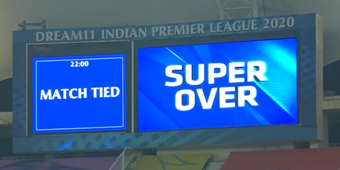 DC VS KXIP Match tied