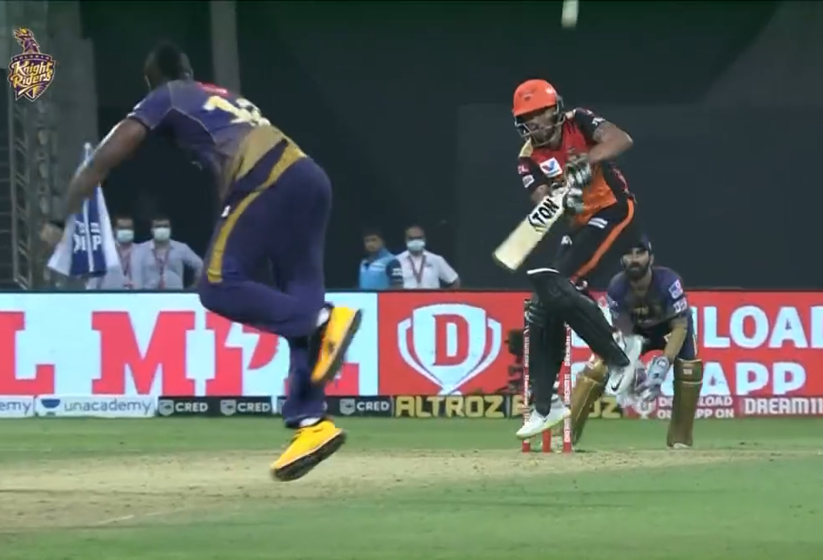 Manish Pandey dismissed for 51 runs.