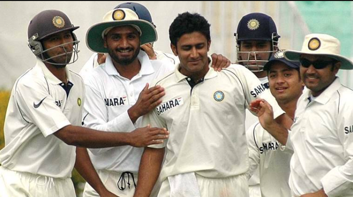 Anil Kumble - second bowler to make 10 wickets of an innings in a Test match