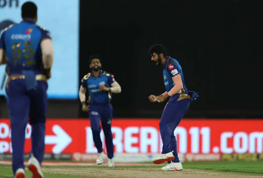 Bumrah dismissed Rayudu and N Jagadeesan