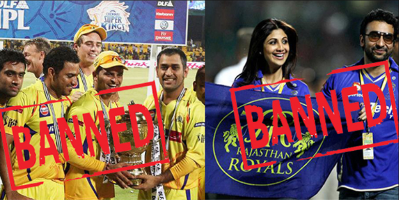 CSK RR banned includes in IPL controversies