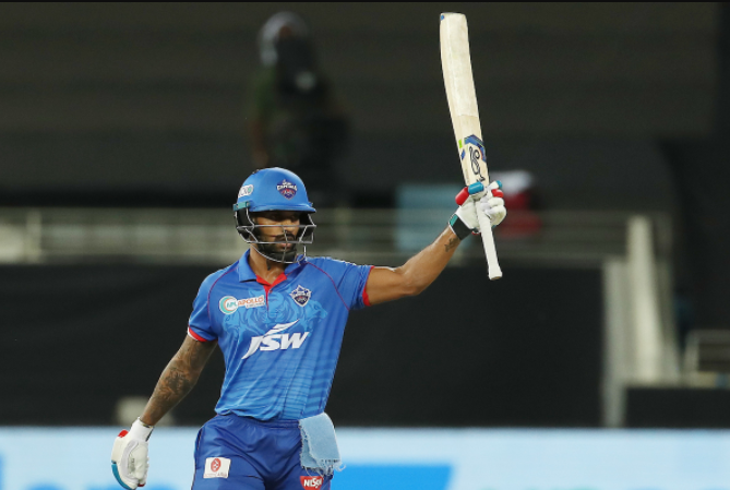 Shikhar Dhawan scored 106* from 61 deliveries