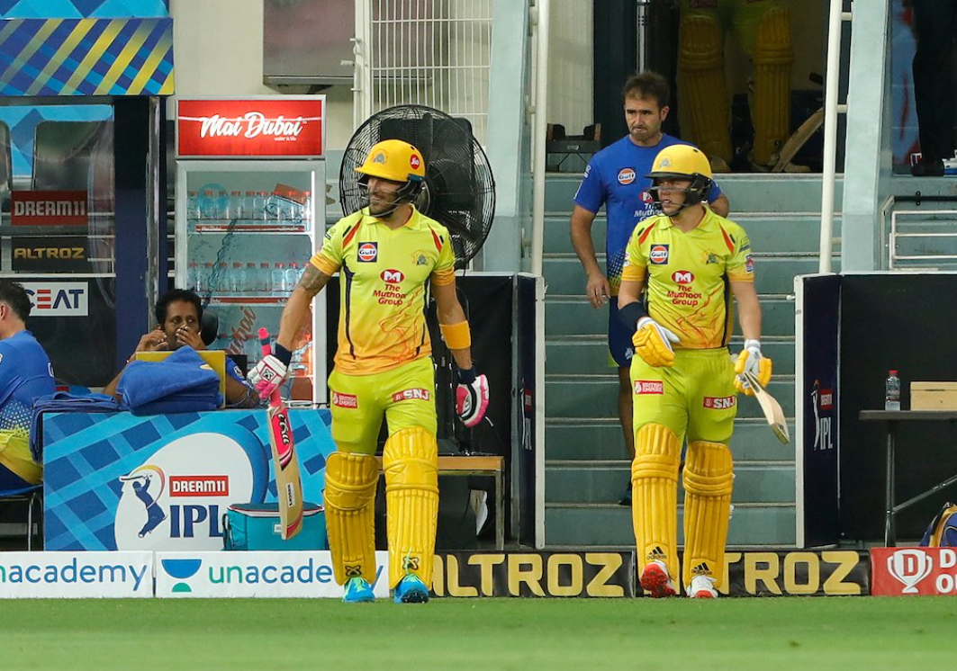 SRH vs CSK Faf du Plessis and Sam Curran opens for CSK