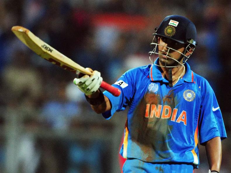 Gambhir scored 97 vs Sri Lanka in 2011 ODI World Cup final