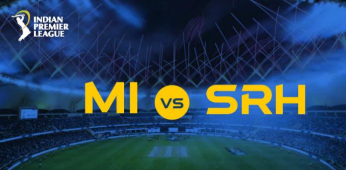 IPL 2020 MI vs SRH