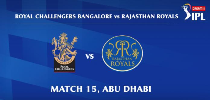 IPL 2020 RCB vs RR