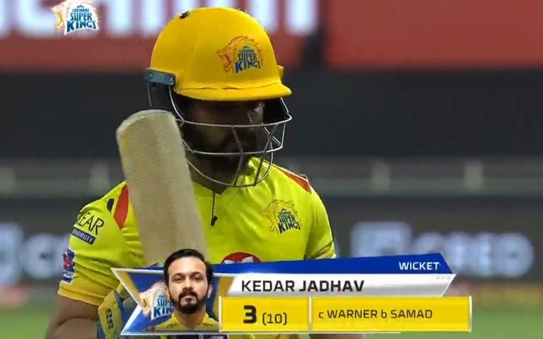 Jadav dismissed for 3 runs