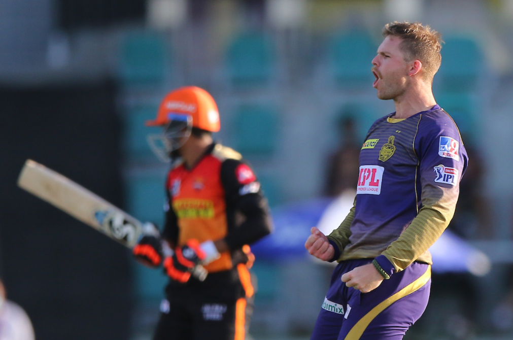 Lockie Ferguson dismissed Manish Pandey for 6 runs