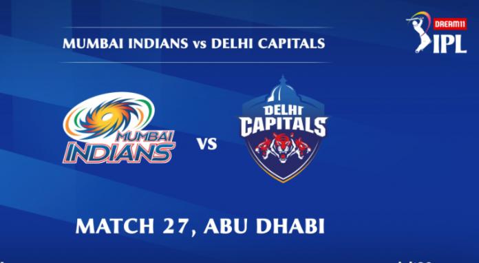 IPL 2020 MI vs DC