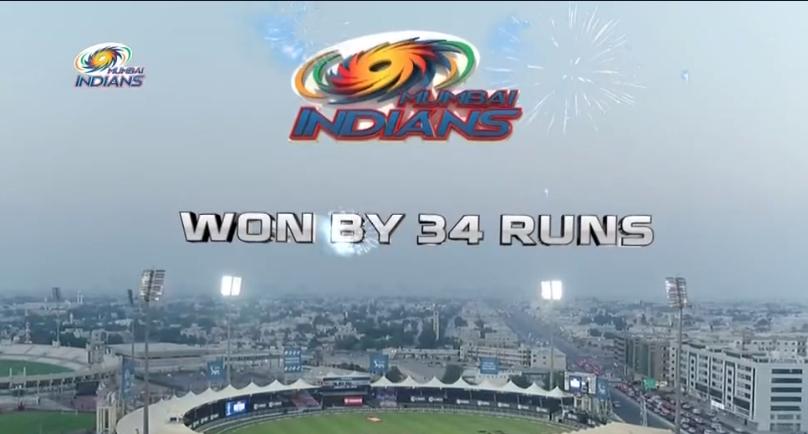 Mumbai Indians won by 34 runs