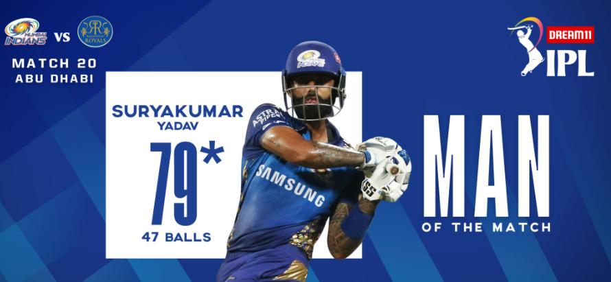 RR vs MI | Suryakumar Yadav bags MOM