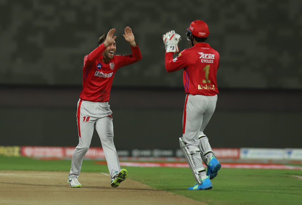 Maxwell dismissed Rana in the first over