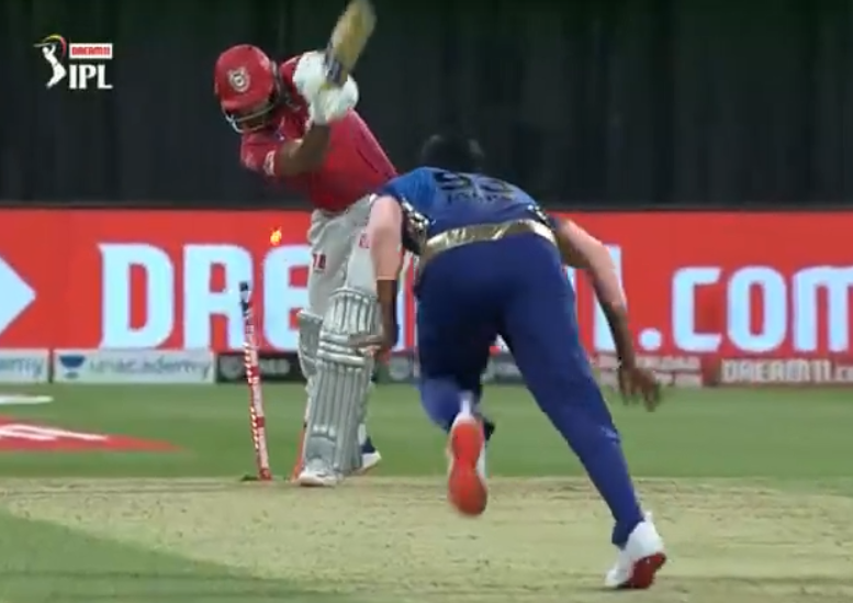 IPL 2020 KXIP vs MI Mayank Agarwal dismissed for 25 runs