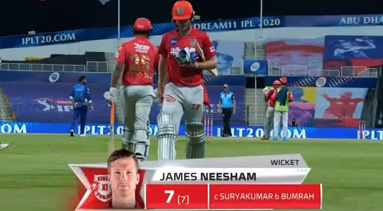 Neesam dismissed for 7 runs