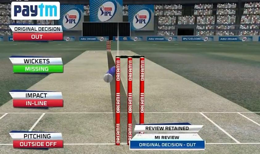 IPL 2020 KXIP vs MI Rohit Sharma wicket review