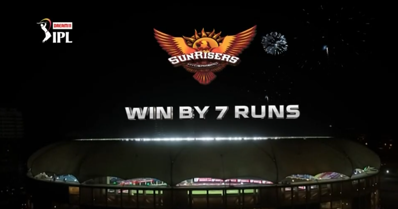 SRH win by 7 runs