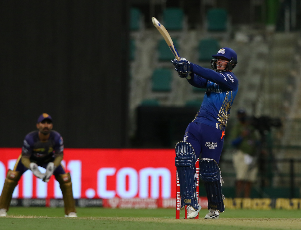 de Kock with a six reached his half-century in 25 deliveries