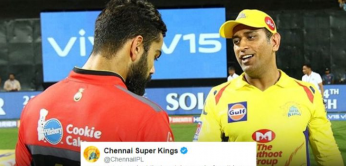 CSK strike back RCB with a creepy reply