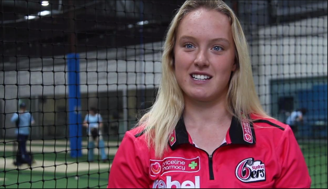 Hayley Silver-Holmes Sydney Sixers WBBL player