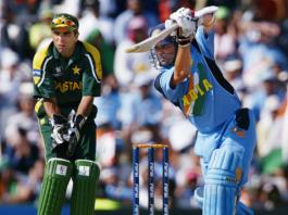 Sachin TendulkarSachin Tendulkar scored 98 runs against Pakistan in 2003 WC