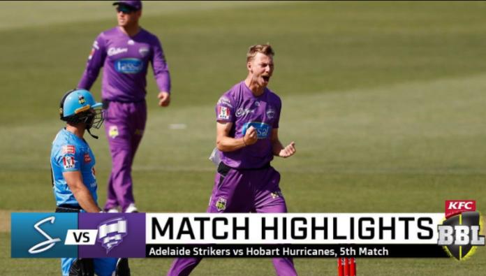 Adelaide Strikers vs Hobart Hurricanes Highlights
