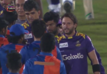 Naveen ul Haq Gets in heated altercation with Shahid Afridi