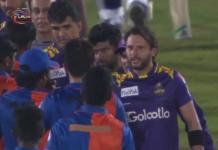 Naveen ul Haq Gets in heated altercation with Shahid Afridi