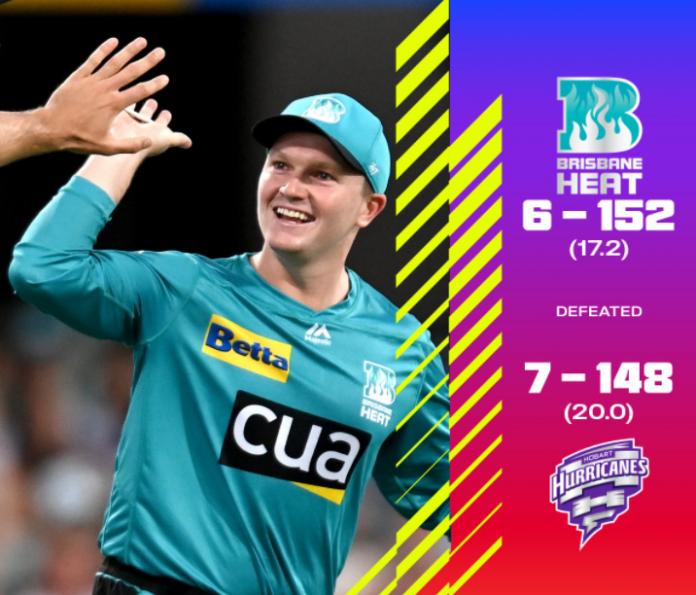 BBL 2020: Brisbane Heat vs Hobart Hurricanes Highlights
