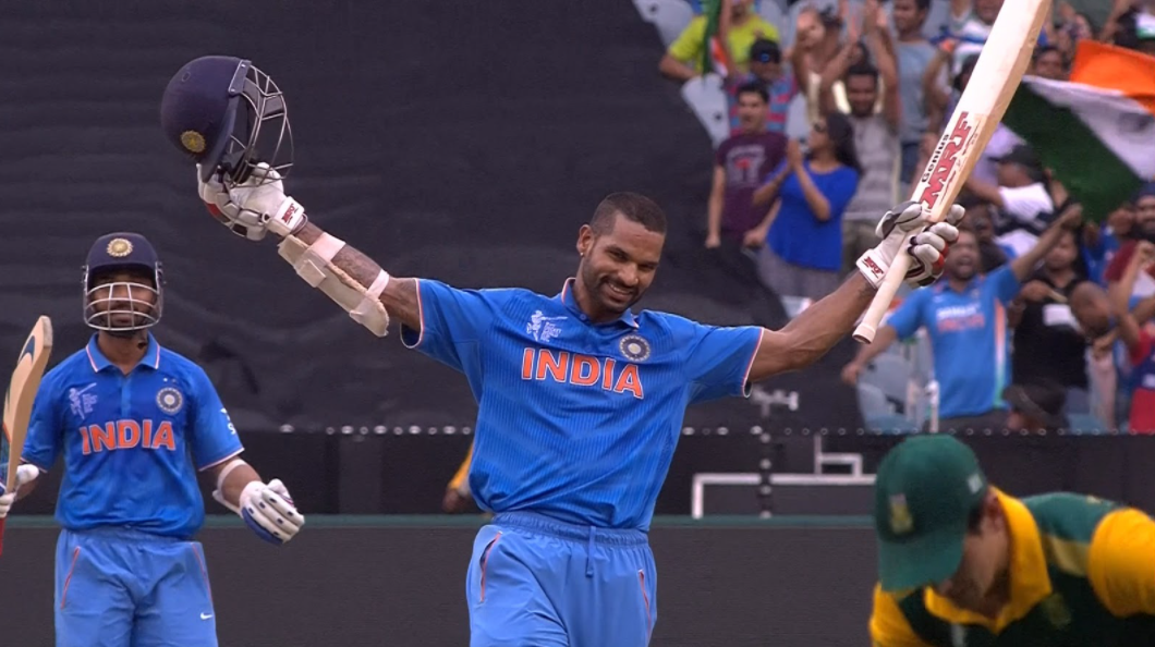 Dhawan scored 137 against South Africa in World Cup 2015