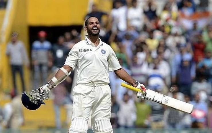 Dhawan scored 187 on test debut vs Australia