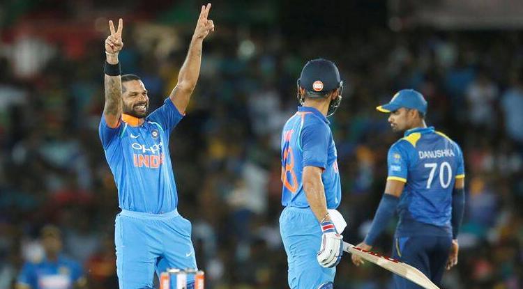 Dhawan scored 132 runs against Sri Lanka