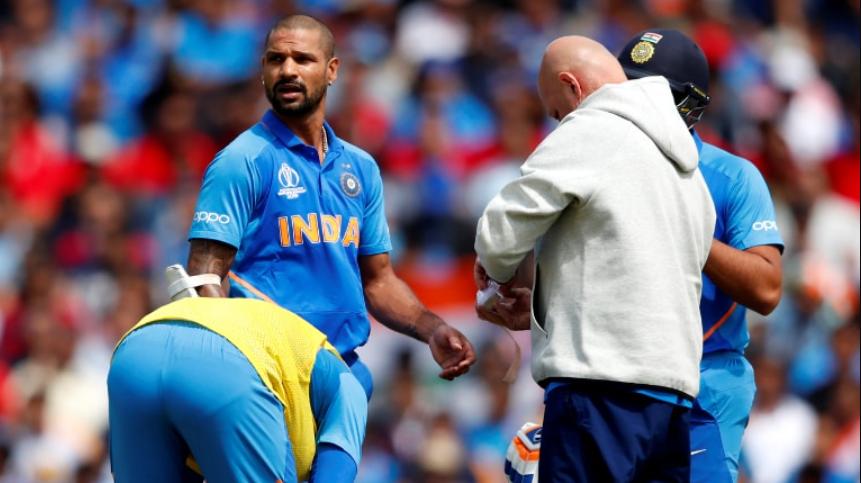 Dhawan thumb injury in 2019 WC