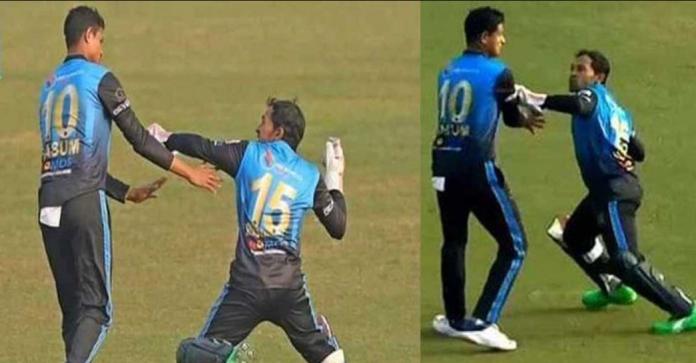 Mushfiqur Rahim angry gesture towards Nasum Ahmed