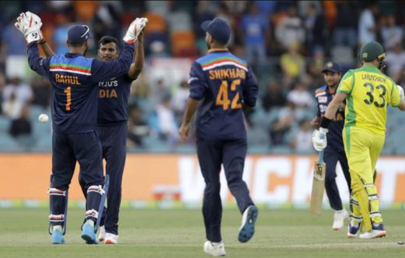 Natarajan maiden wicket