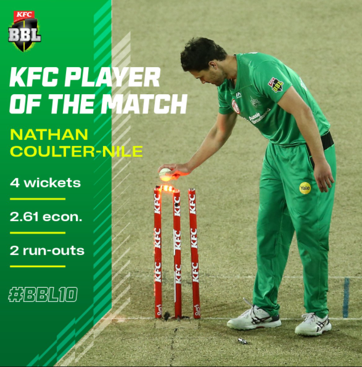 Nathan Coulter Nile - Man of the Match