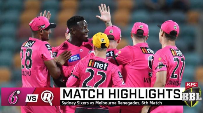 Sydney Sixers vs Melbourne Renegades