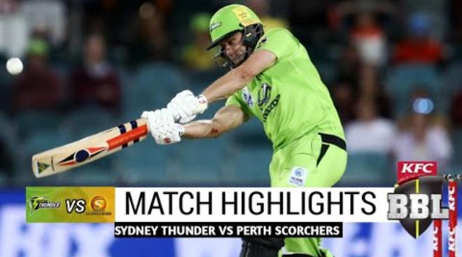BBL 2020 Sydney Thunder vs Perth Scorchers Highlights