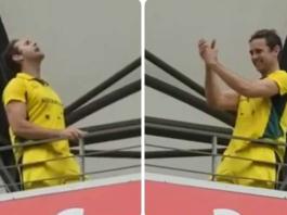 Australian Fan chants Vande Mataram