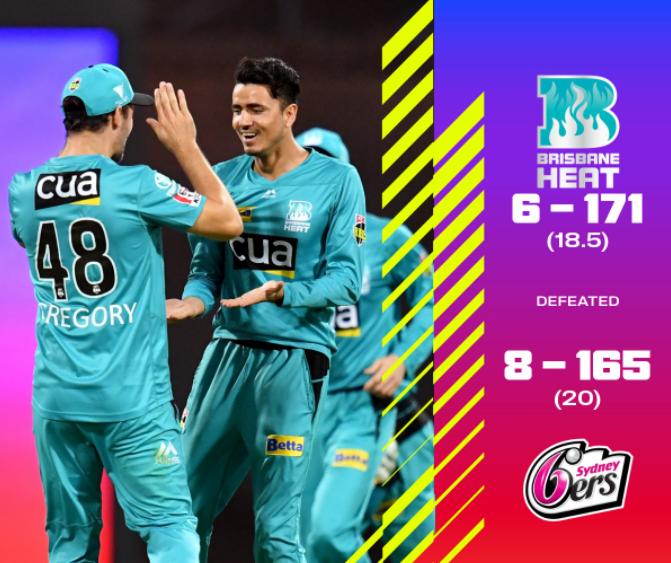 BBL 2020 Brisbane Heat vs Sydney Sixers Highlights