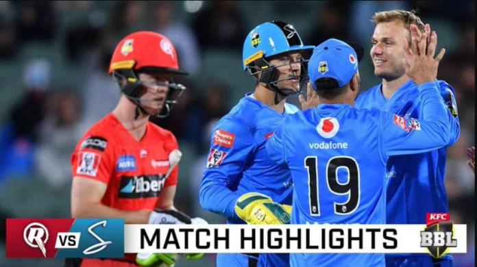 BBL 2020 Melbourne Renegades vs Adelaide Strikers Highlights