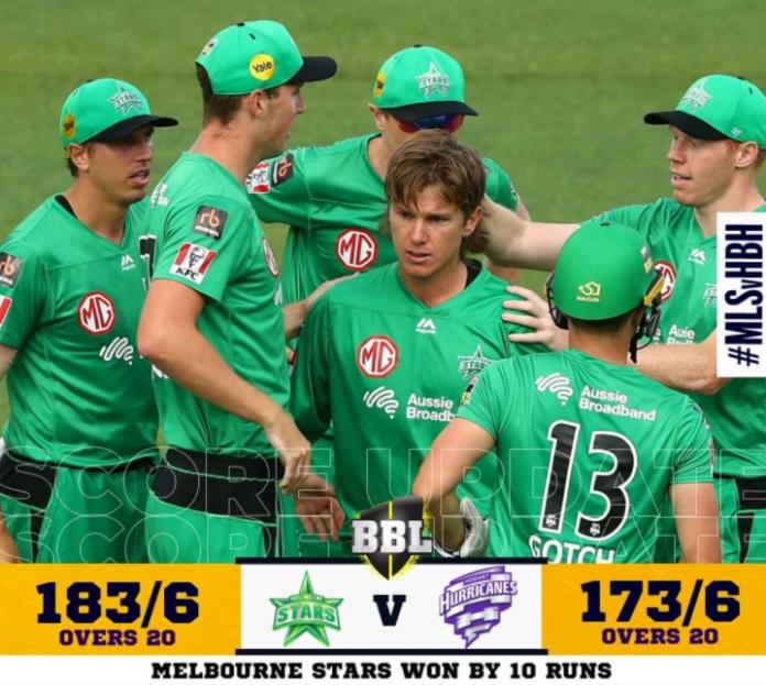 BBL 2020 Melbourne Stars vs Hobart Hurricanes Highlights