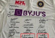 Fans decode the hidden message in the signed jersey gifted to Nathan Lyon
