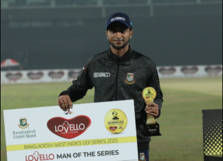 Shakib had made a return to international cricket in this series after serving out his ban