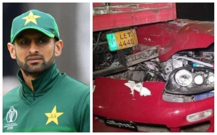 Shoaib Malik survives car accident