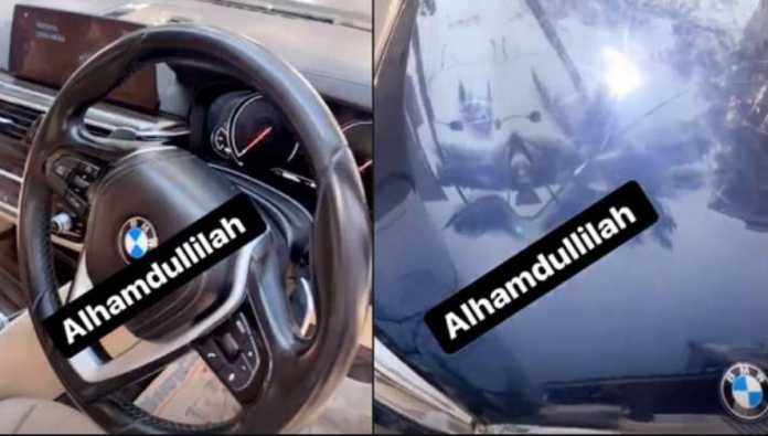 Siraj drives a brand new BMW Car