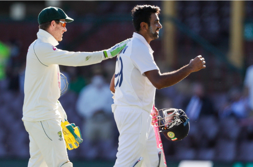 Tim Paine and Ashwin seems normal post the match completion