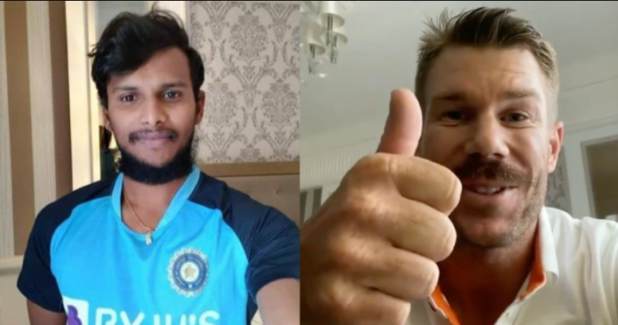 David Warner praises Natarajan in Tamil